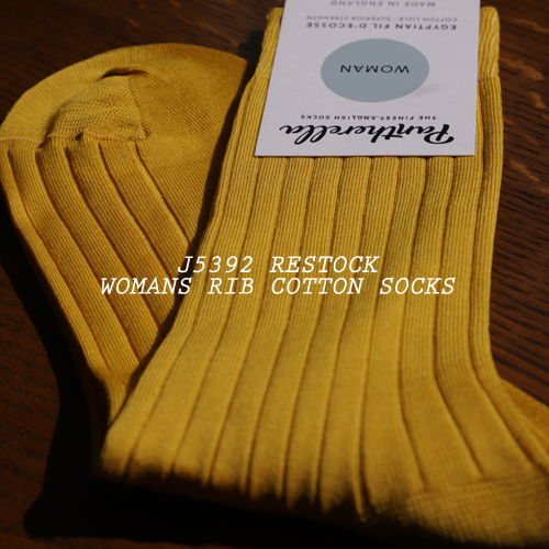 J5392 RESTOCK WOMANS RIB COTTON SOCKS